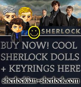BBC Sherlock kulcstartó baba