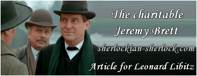 The charitable Jeremy Brett