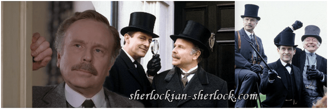 Edward Hardwicke and Jeremy Brett