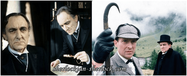 Eric Porter and Jeremy Brett