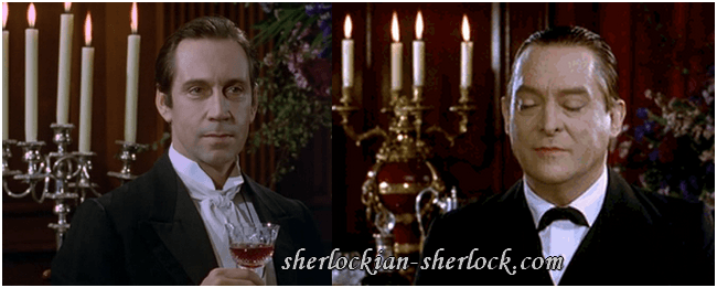 Jonathan Hyde and Jeremy Brett
