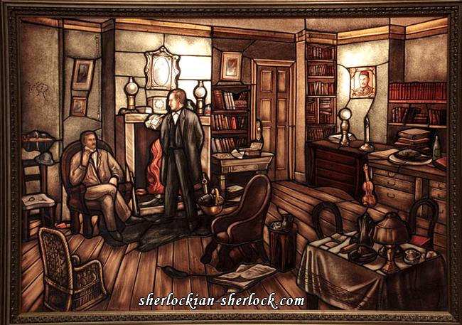 Joseph Aigner Sherlock Holmes glass picture