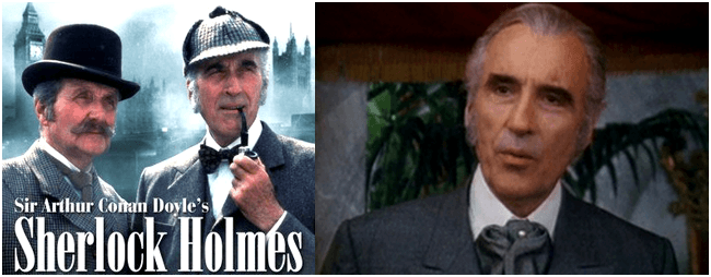 Christopher Lee as Sherlock Holmes