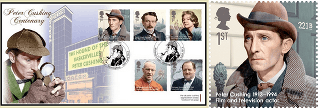 Peter Cushing British actor Sherlock Holmes stamp