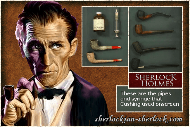 Sherlock Holmes pipes of Peter Cushing