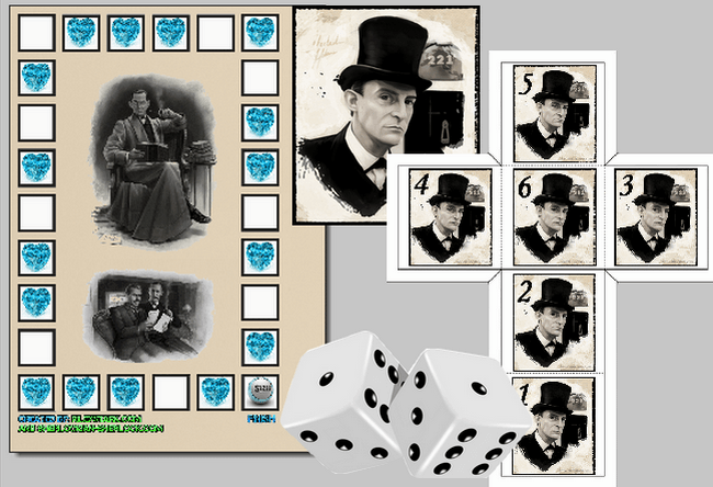 The Blue Carbuncle board game Sherlock Holmes free download and print