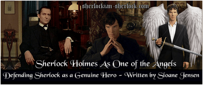 Sherlock Holmes as one of angels