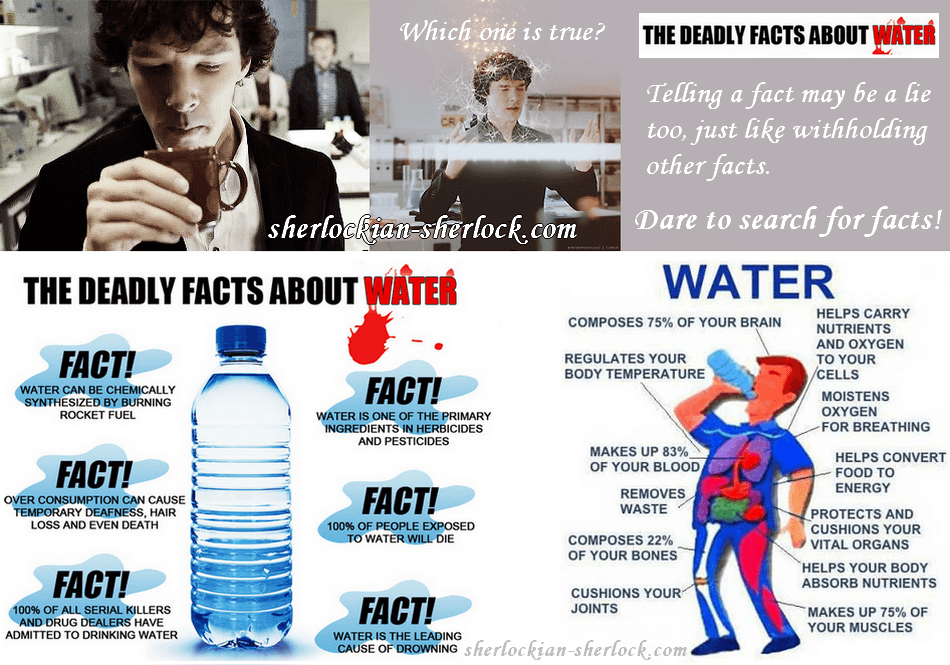 BBC Sherlock Holmes deduction water facts