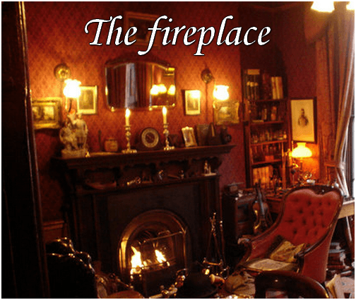 Sherlock Holmes and the fireplace