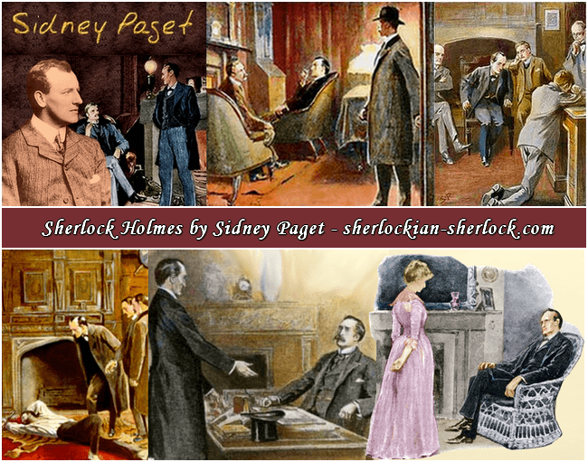 Sidney Paget Sherlock Holmes color illustration
