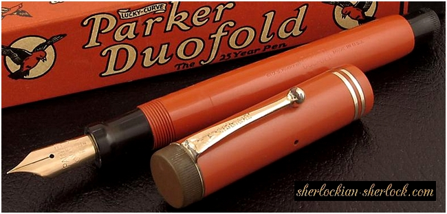 Red Duofold pen